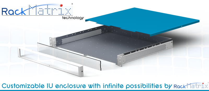 Customizable 1U enclosure with infinite possibilities by Calexium