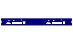 Façade Dual APU4 + LED + 2 wifi/4G pour Rack Matrix® M1