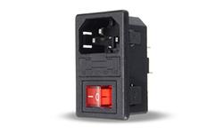 Connecteur IEC 220V avec fusible 10A pour RackMatrix® M1